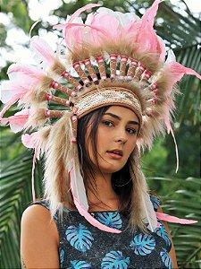 Cocar Maya Rosa