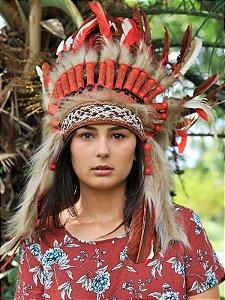 Cocar Apache Vermelho