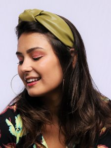 Tiara Chloe Couro Oliva