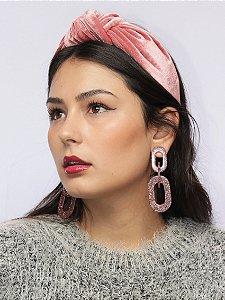 Tiara Chloe Veludo Rosê