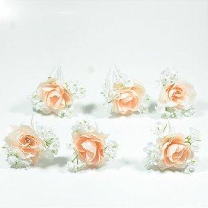 Grampo de Flores Bailarina - 6 peças