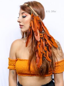 Headband de Penas Terra Cacique