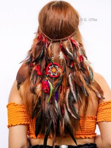 Headband de Penas Apache
