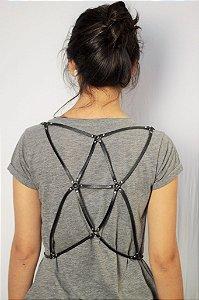 Harness Couro Triângulo