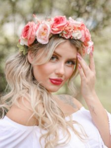 Tiara de Flores Margot