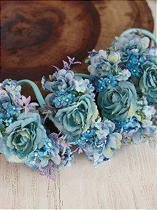 Headband Flores Infantil Céu