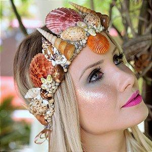 Coroa de Conchas Sereia Syrena