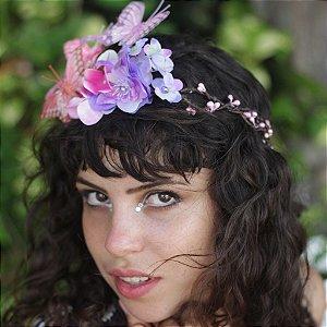 Coroa de Flores e Borboletas Lola