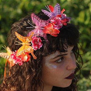 Coroinha de Flores e Borboletas Ully