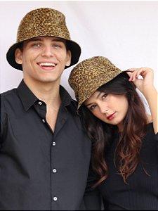 Bucket Hat Dupla Face Oncinha & Preto
