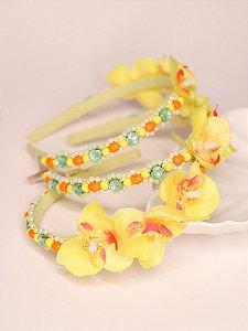 Tiara Infantil Flores Orquídea Solar
