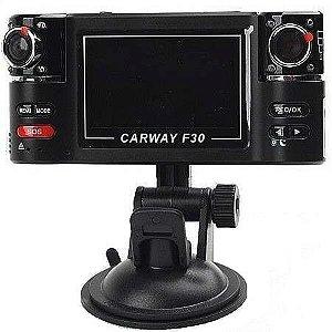 Câmera Filmadora Veicular HD Câmera Dupla 360 F30
