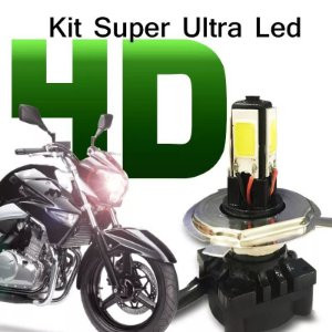 Kit Super Ultra Led H4 4d Moto Lampada 6000k