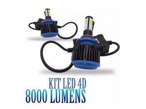 Kit Led 4d 8000 Lumens Carro 12v 24v Canbus Canceller 6000k