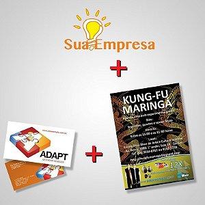 Kit Divulgação (Logotipo + Cartão de Visitas + Flyer)