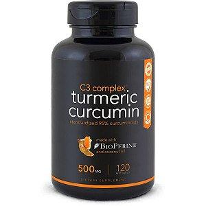 Turmeric Curcumin C3 Complex 120 softgel  SPORTS Research FRETE GRÁTIS