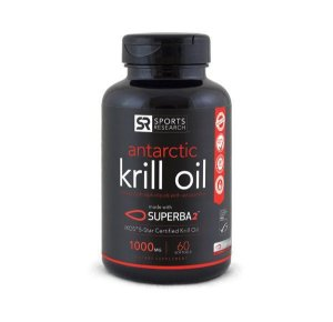 Krill Oil  Antarctic 1000mg 60 caps SPORTS Research FRETE GRÁTIS