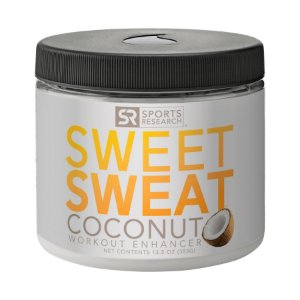 Sweet Sweat com Extra Virgin Organic Coconut Oil. 'XL' Jar (382g) - Frete Economico