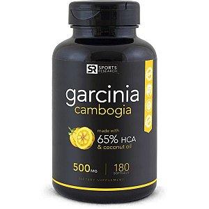 Garcinia Cambogia 65%  500mg  90 Liquid Softgels SPORTS Research FRETE GRÁTIS