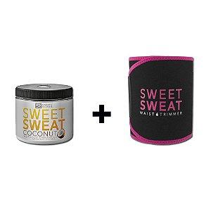 Sweet Sweat Coconut XL 383g + Cinta de Neoprene Rosa - Frete Econômico