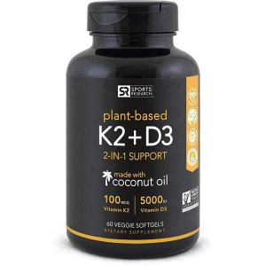 Vitamina K2 + D3 60 veggie softgels