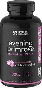 Evening Primrose Oil 120 Caps Sports Research FRETE GRÁTIS