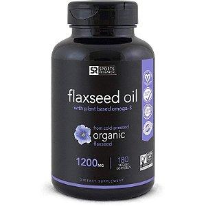 Oleo de linhaca Flaxseed Oil 180 Caps SPORTS Research FRETE GRATIS validade 11/19