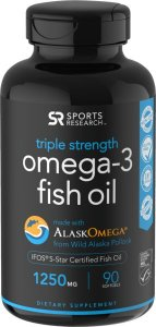 Omega 3 óleo de peixe Fish Oil 150mg 90 softgels SPORTS Research