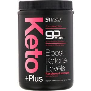 Keto Plus sabor Raspberry Lemonadde 318g SPORTS Research