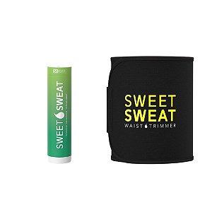 Sweet Sweat Mint Citrus 182g Bastão + Cinta de Neoprene Amarela - Frete Econômico