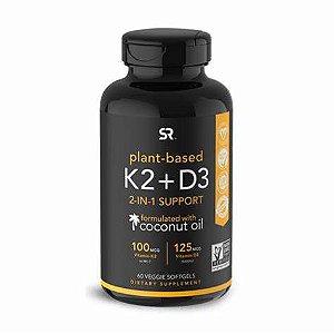 Vitamina K2 + D3 60 veggie softgels SPORTS Research FRETE GRÁTIS