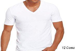 Camiseta Gola V Masculina Manga Curta