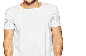 Camiseta Gola Quadrada Masculina Manga Curta