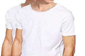 KIT com 2 Camisetas Gola Canoa Masculina Manga Curta