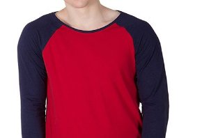 Camiseta Gola Raglan Masculina Modelo 3 Manga Longa