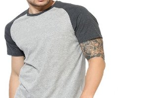 Camiseta Gola Raglan Modelo 3 Masculina Manga Curta