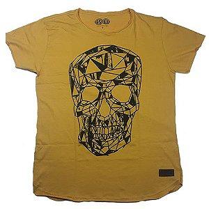 Camiseta Gola Básica Estampada - Modelo 01 - Longline Redonda