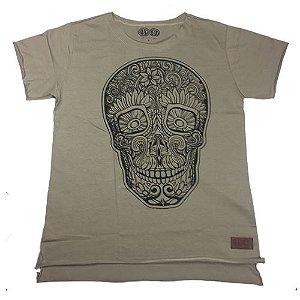 Camiseta Gola Básica Estampada - Modelo 20 - Longline Reta