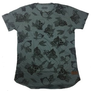 Camiseta Gola Básica Estampada - Modelo 02 - Longline Redonda