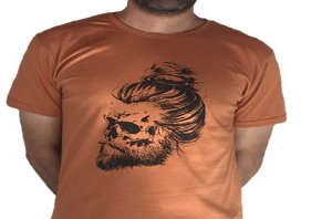 Camiseta Gola Básica Estampada - Modelo 58
