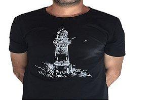 Camiseta Gola Básica Estampada - Modelo 37