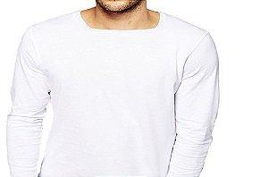 Camiseta Gola Quadrada Masculina Manga Longa