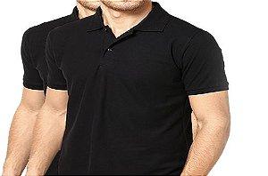KIT com 2 Camisetas Gola Polo Masculina Manga Curta