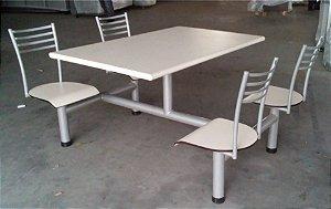 Mesa para Refeitório com Cadeira Conjugada 4 Lug.