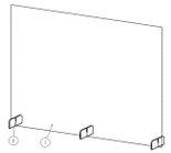 TopShield – Separadores de Mesas / Balcão Modelo C