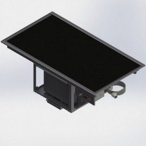 Vidro Termoelétrico para Buffet - Pista Refrigerada de Encaixar 3 GN´s