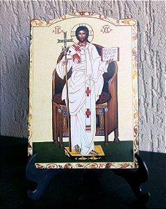 Ícone Cristo Ressuscitado em frente ao Trono