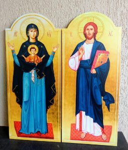 Conjunto Mestre Pantocrator + Theotokos - A Portadora de Deus