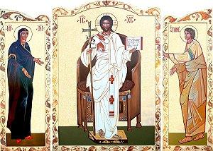 Cristo Ressuscitado em frente ao Trono Tríptico