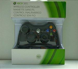 CONTROLE WIRELESS XBOX 360 PRETO